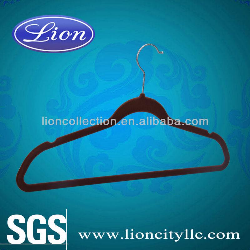 Kadife giysiler için askılar lec-f5009 ucuz