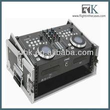 RK-Slant Audio Devices Road Case with 4U Rack Rails