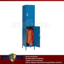 metal bathroom locker cabinet/2 tier iron locker with steel legs/godrej indian almirah design/corner wardrobe iron cloth cabinet