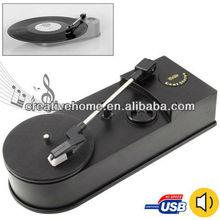 EC008B, USB Mini Phonograph / Turntable / Vinyl Turntables Audio Player, Support Turntable Convert LP Record to CD