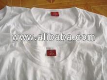 Blank white T shirt 100% cotton LOGO printing embroidery wholesale