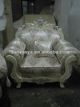 full handmade fabric antique wooden luxury italian sofas danxueya-901#