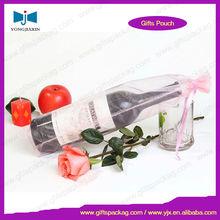 Organza fabric gift wine bottle bag
