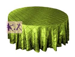 Sage Round Taffeta Pintuck Table Cloth