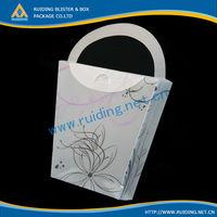heat sealed plastic craft box with handles