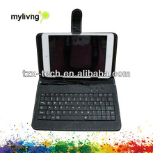 High quality bluetooth keyboard leather case for ipad mini
