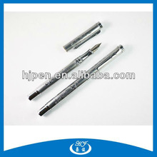High End Emboss Luxury Gift Metal Silver Fountain Pens