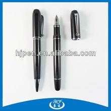 High End Luxury Gift Black Metal Custom Fountain Pens