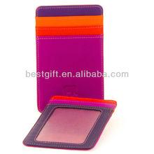 PVC pocket ladies magic wallet 3 stitch slots