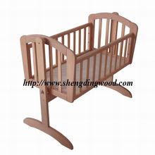 baby wooden crib cot cradle bed