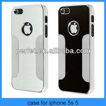 Luxury Brushed Aluminum Chrome Hard Cover Aluminum case For iPhone 5 5G 5s(PT-I5C208)