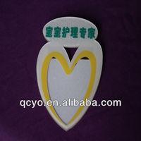 Shenzhen customize handmade heart shaped name tags