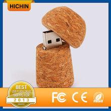 Innovative design mushroom wooden 64gb thumb USB drive