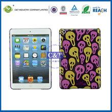 C&T Funny skull pattern plastic hard cover for case ipad mini