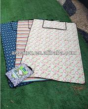 100% printed cotton picnic blanket camping foam sleeping mat