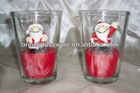 Christmas gift, Father Christmas,Santa glass candle holder
