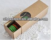 Slide box kraft paper macaron packaging box with window
