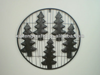 iron decorative plaques with tree wall decoration used home decoration