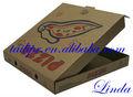 Vendita calda di alta qualità della carta kraft pizza box personalizzato/marrone riciclato cartakraft cibo box/cibo scatola