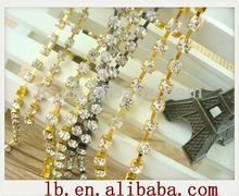 crystal diamond rhinestone cup chain , strass chain, MC chaton cup chain for cryrtal trimming