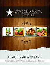 The restaurant menu