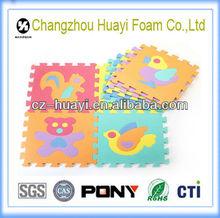 Non-toxic eva animal play mat puzzle mat/baby