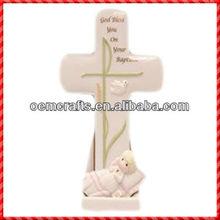 2013 New Vintage Custom Printing Decorative Ceramic Cross Ornament