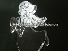 Ángel diseño hechos a mano de cristal recuerdos para regalo de san valentín
