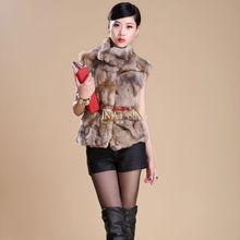 2013 fashion rabbit fur vest /hot selling rabbit fur winter vest