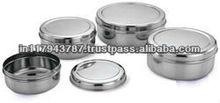 stainless steel puri dabba / stainless steel storage box