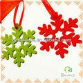 Venta al por mayor de navidad decoraciones/decoración sentía/fieltro copo de nieve ornamento
