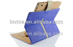 suede 360 degrees rotating stand leather smart case for apple 2/3/4 iPad 2 3 4