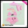 girl six flowers bikini,baby princess beachwear,cute swimming wear + hat