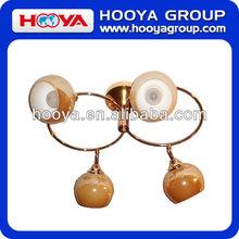 4 cabeças elegante e bola- em forma de luz dourada marrom luminária de vidro decorativo