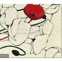 Handmade Modern abstract simple flower paintings oils on canvas, pop art_2232