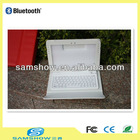 leather case wireless bluetooth tablet keyboard for Samsung