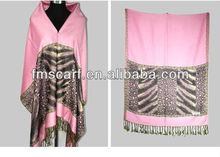 New Design Stock Leopard Female Scarf Pashmina Wholesale