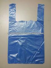Vest carrier handle plastic bags