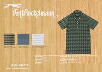 VonWinckelmann Argyle button down polo shirt