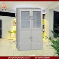 Vidro cinza 4 swing metal porta peito armário de arquivamento, aço da caixa de armazenamento, metal caixa de ferramentas industriais