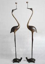 New design crane candle holder brass candlesticks
