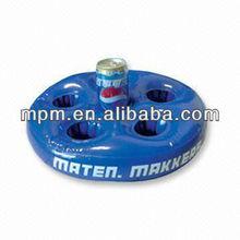 Promotional inflatable beer can holder, floating inflatable beer holder, inflatable pool drink beer holder