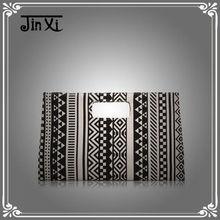 Classical design metal frame handle women canvas clutch bags