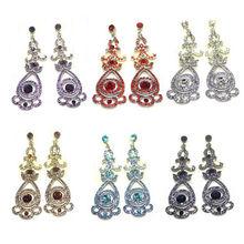 E3004 Wholesale Crystal Zinc Alloy Girls Long Dangle Earring