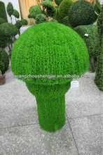 lanscaping artificial topiary grasses plants mushroom shape ,fake UV proof grass