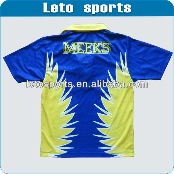 sublimation custom striped dry fit polo shirt/ bowling polo shirt