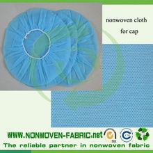 Nonwoven white/blue disposable cap