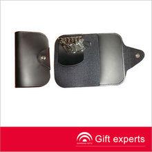 Custom made Newest high quality leather card holder key chain