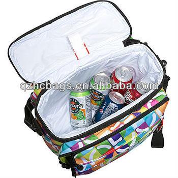 Black Foldable Promotion printed PEVA cooler bag for food es56