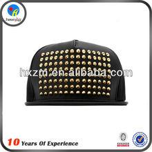 Fashion Mens Stylish Leather Plain Snapback Cap